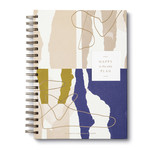 COMPENDIUM 17 MONTH UNDATED PLANNER - HAPPY IS THE ONLY PLAN