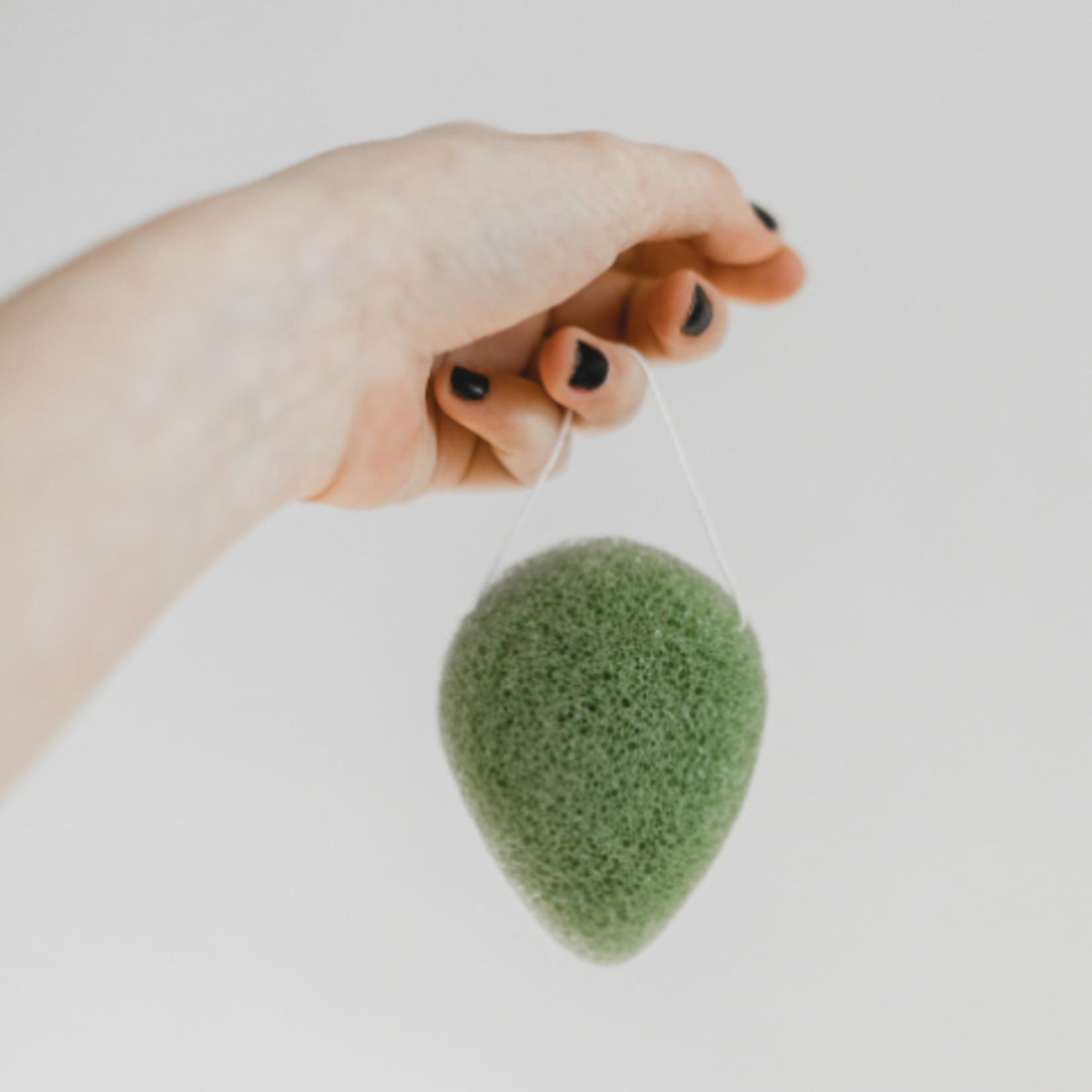 BKIND Konjac Facial Sponge - Green Clay