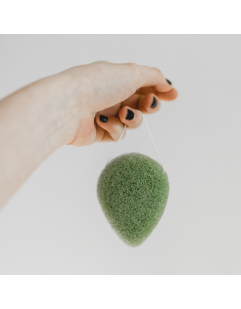BKIND Konjac Facial Sponge - Green Clay