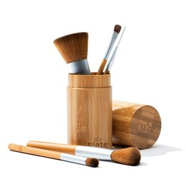 Elate Cosmetics Vegan Brush Set In Bamboo Canister
