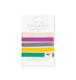 Kooshoo Organic Hair Ties Colourful
