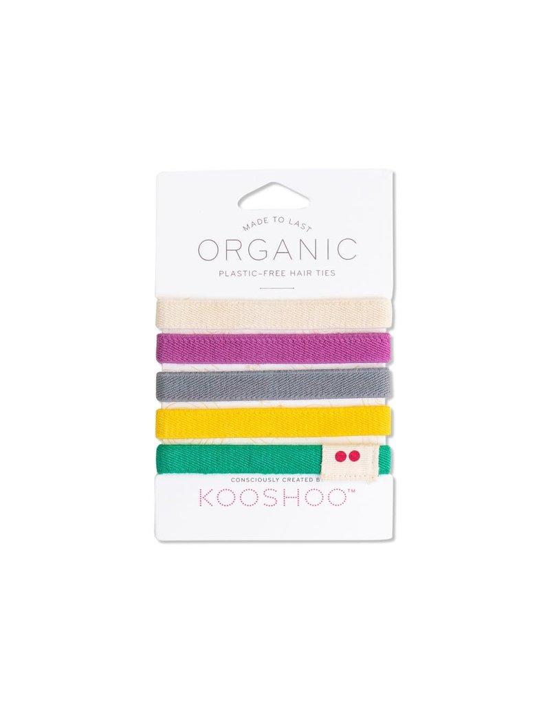 Kooshoo Organic Hair Ties Colourful