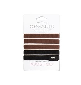 Kooshoo Organic Hair Ties Black Brown
