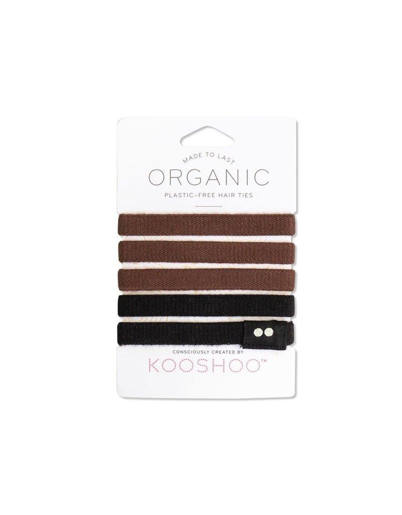 Kooshoo Organic Hair Ties Black Brown