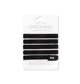 Kooshoo Organic Hair Ties Black