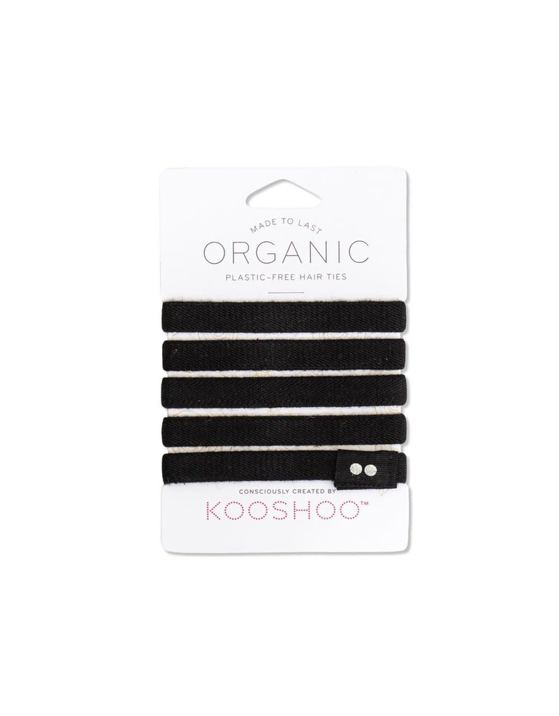 Kooshoo Organic Hair Ties Black