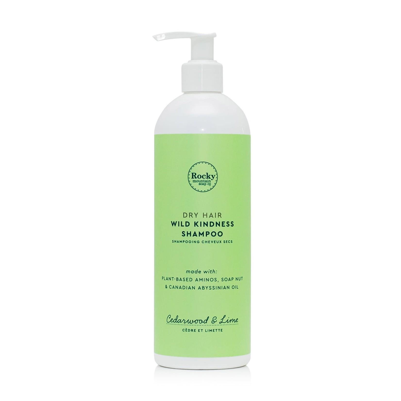 ROCKY MOUNTAIN SOAP CO. DRY HAIR WILD KINDNESS SHAMPOO - CEDARWOOD + LIME