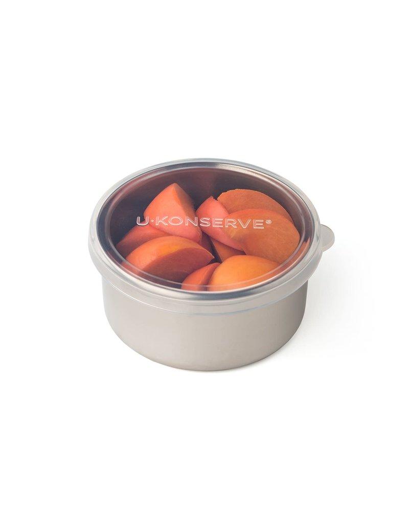 U-Konserve Round Container Medium - Clear Silicone (9oz)