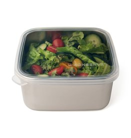 U-Konserve Square To-Go Container Large - Clear Silicone (50oz)