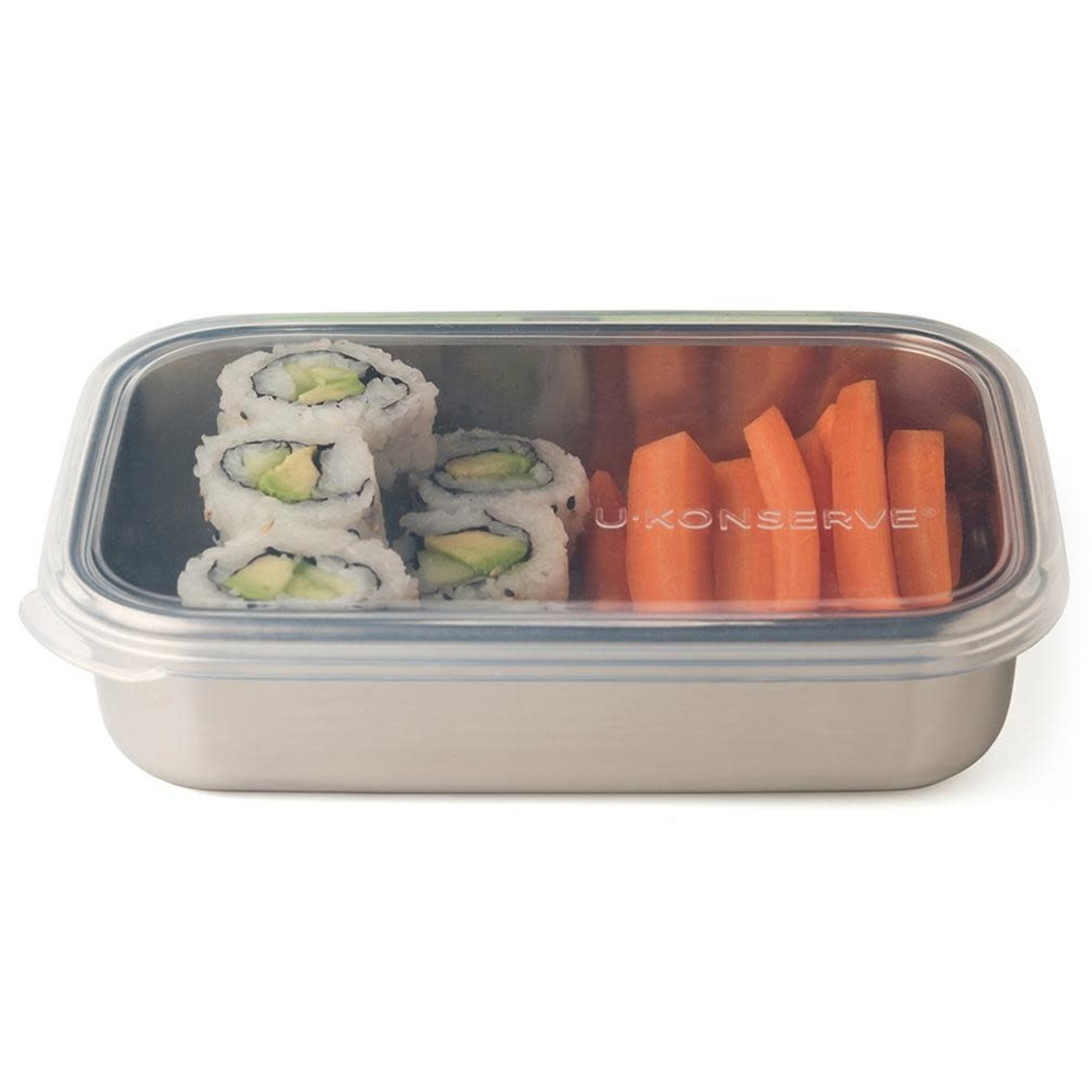 U-KONSERVE Rectangle Container - Clear Silicone (25oz)