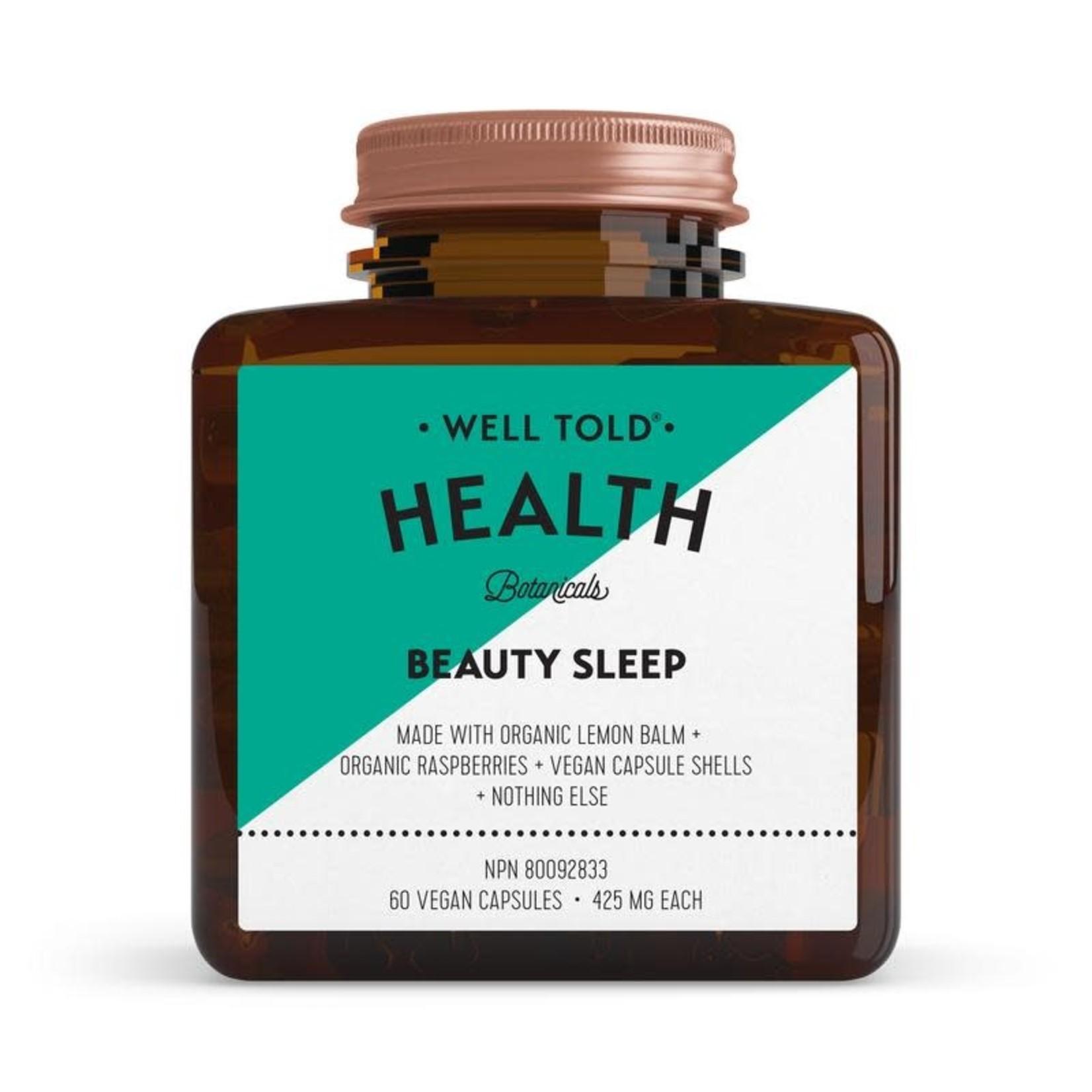 WELL TOLD HEALTH BOTANICALS BEAUTY SLEEP