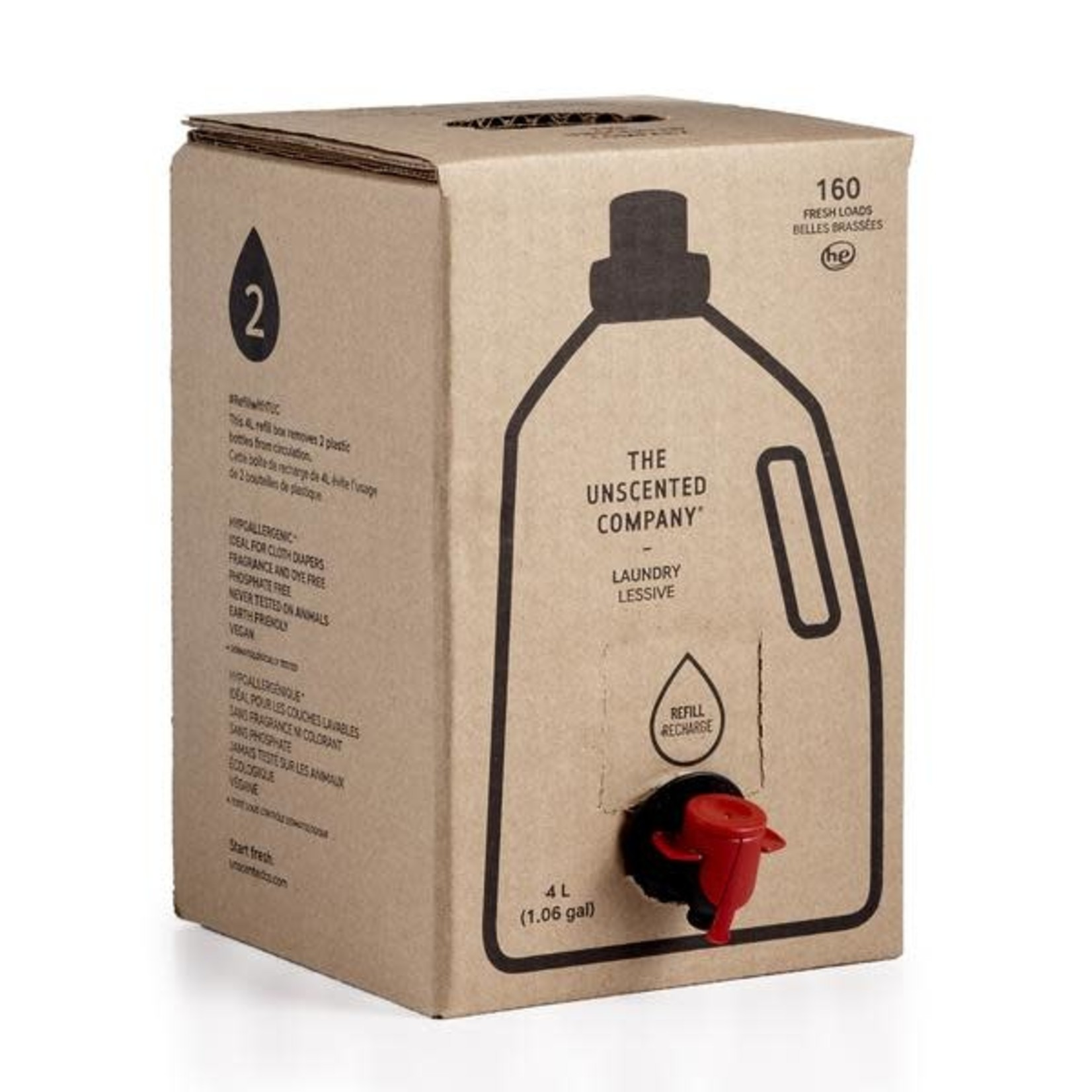 THE UNSCENTED COMPANY LAUNDRY - 4L REFILL BOX