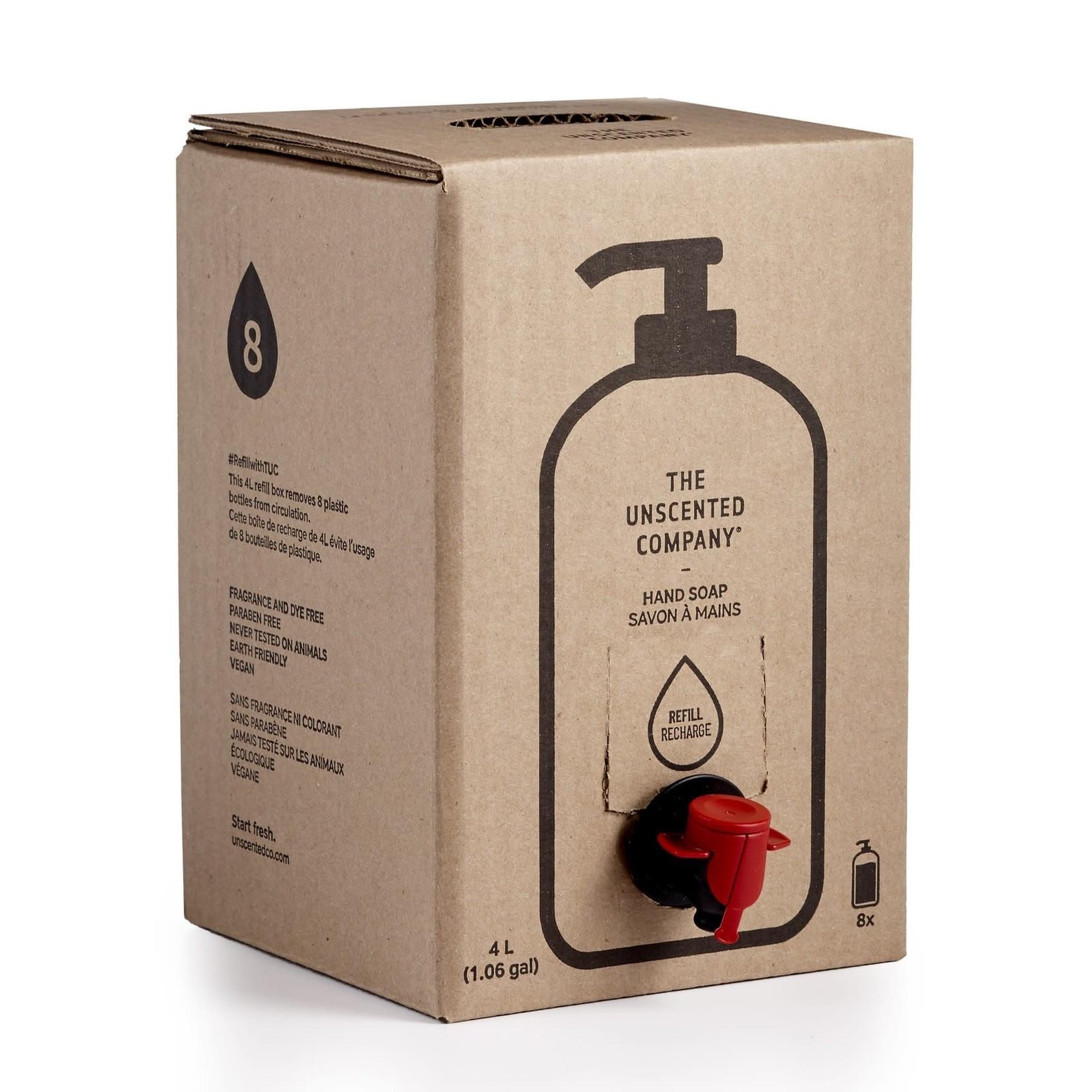 THE UNSCENTED COMPANY HAND SOAP - 4L REFILL BOX