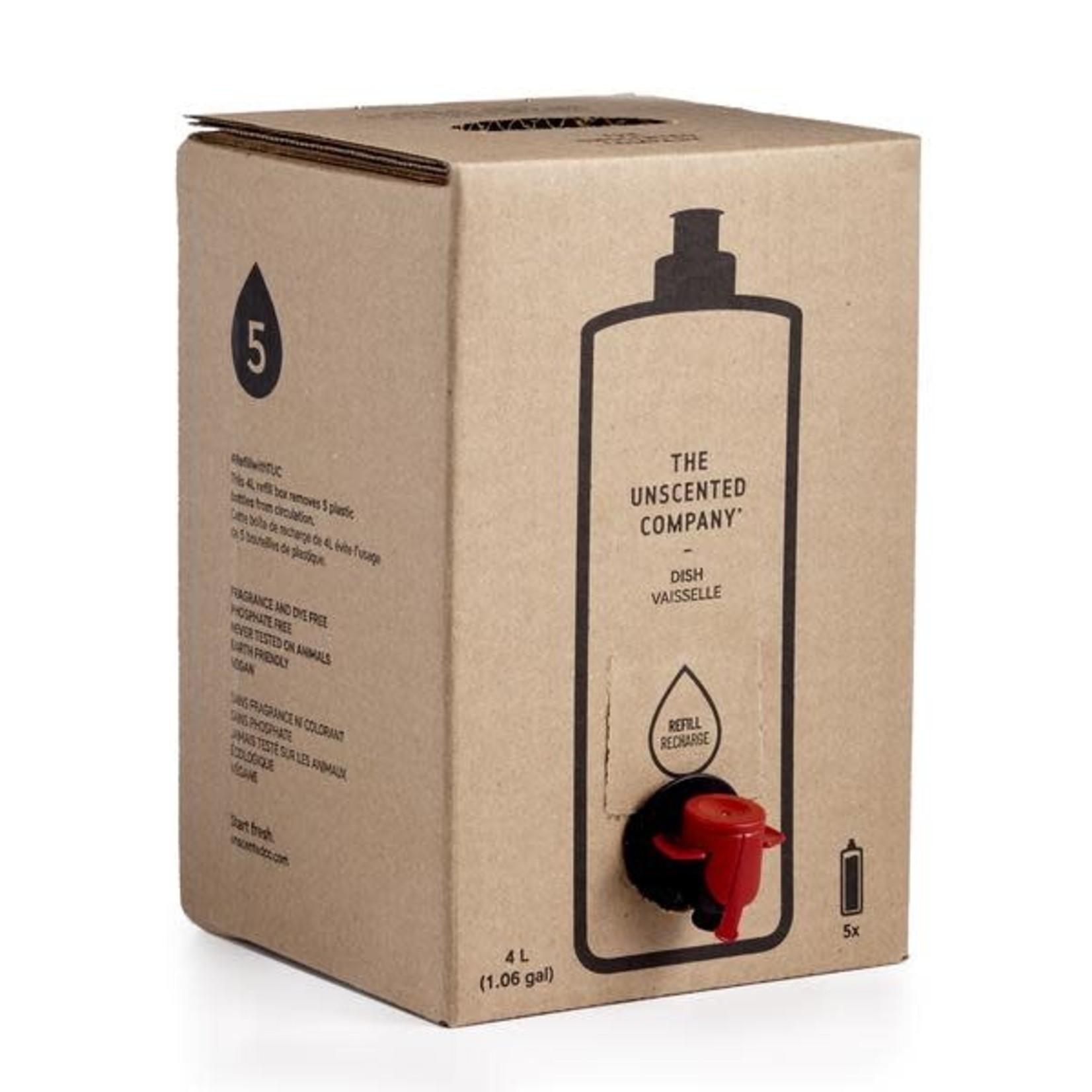 THE UNSCENTED COMPANY DISH SOAP - 4L REFILLABLE BOX