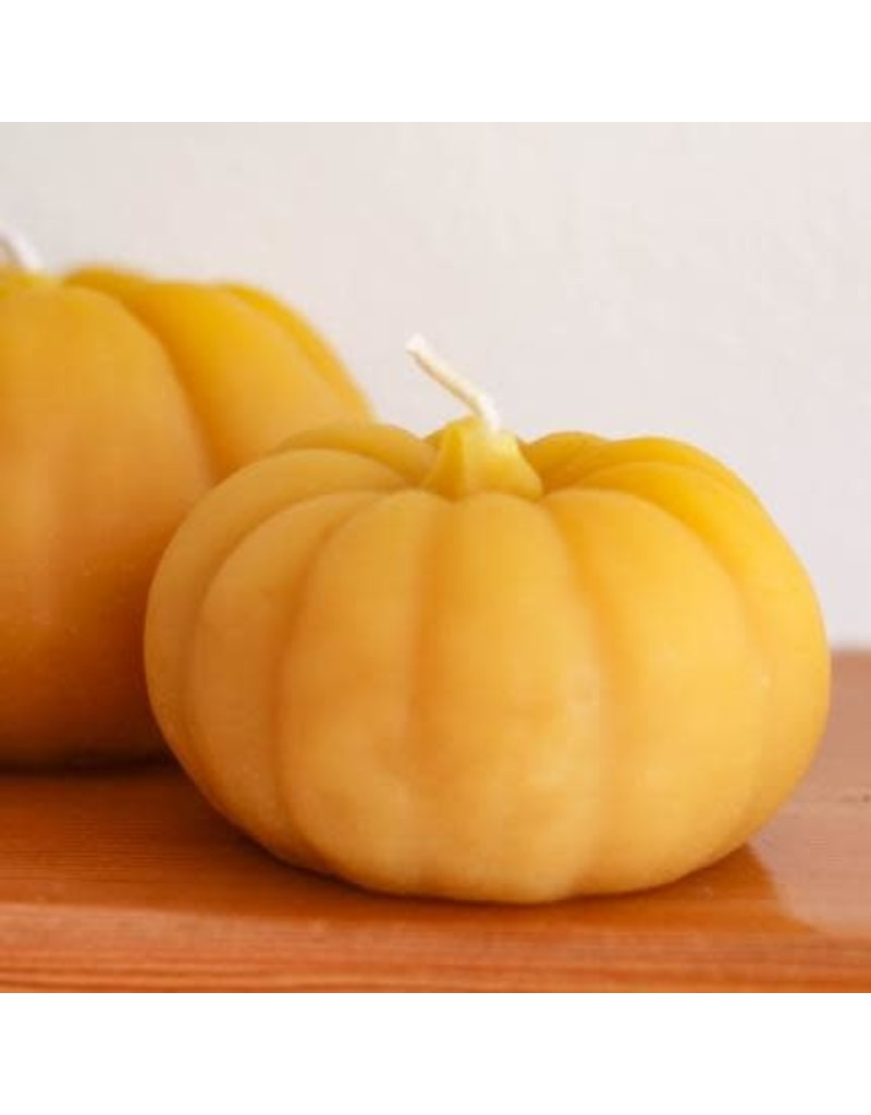 HONEY CANDLES Small Pumpkin Beeswax Candle