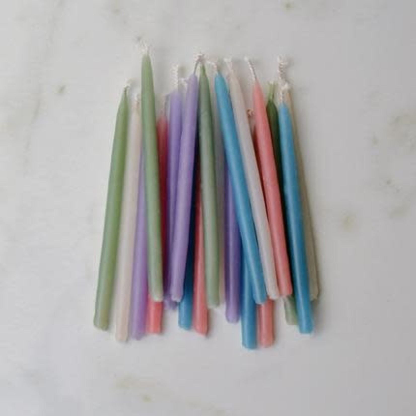 HONEY CANDLES BIRTHDAY BEESWAX CANDLES - PASTEL