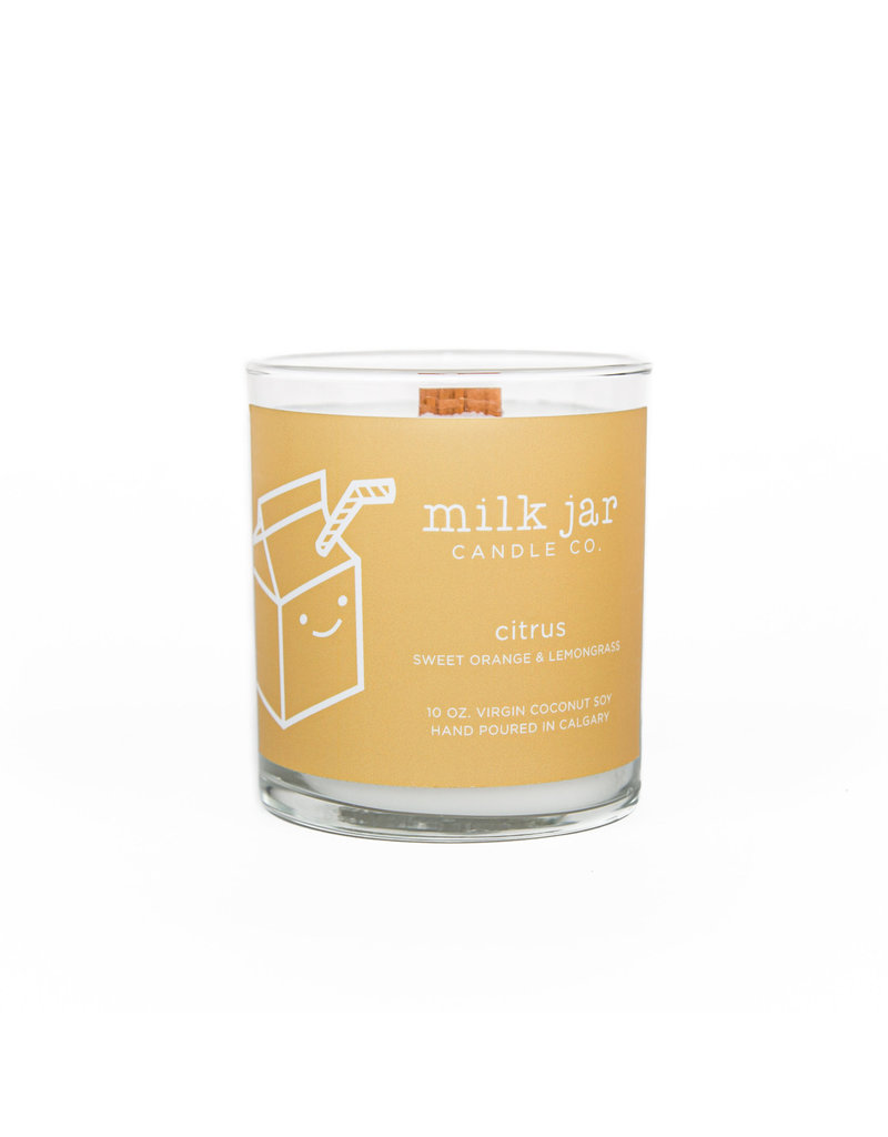 MILK JAR CANDLE CO. Citrus Essential Oil Candle