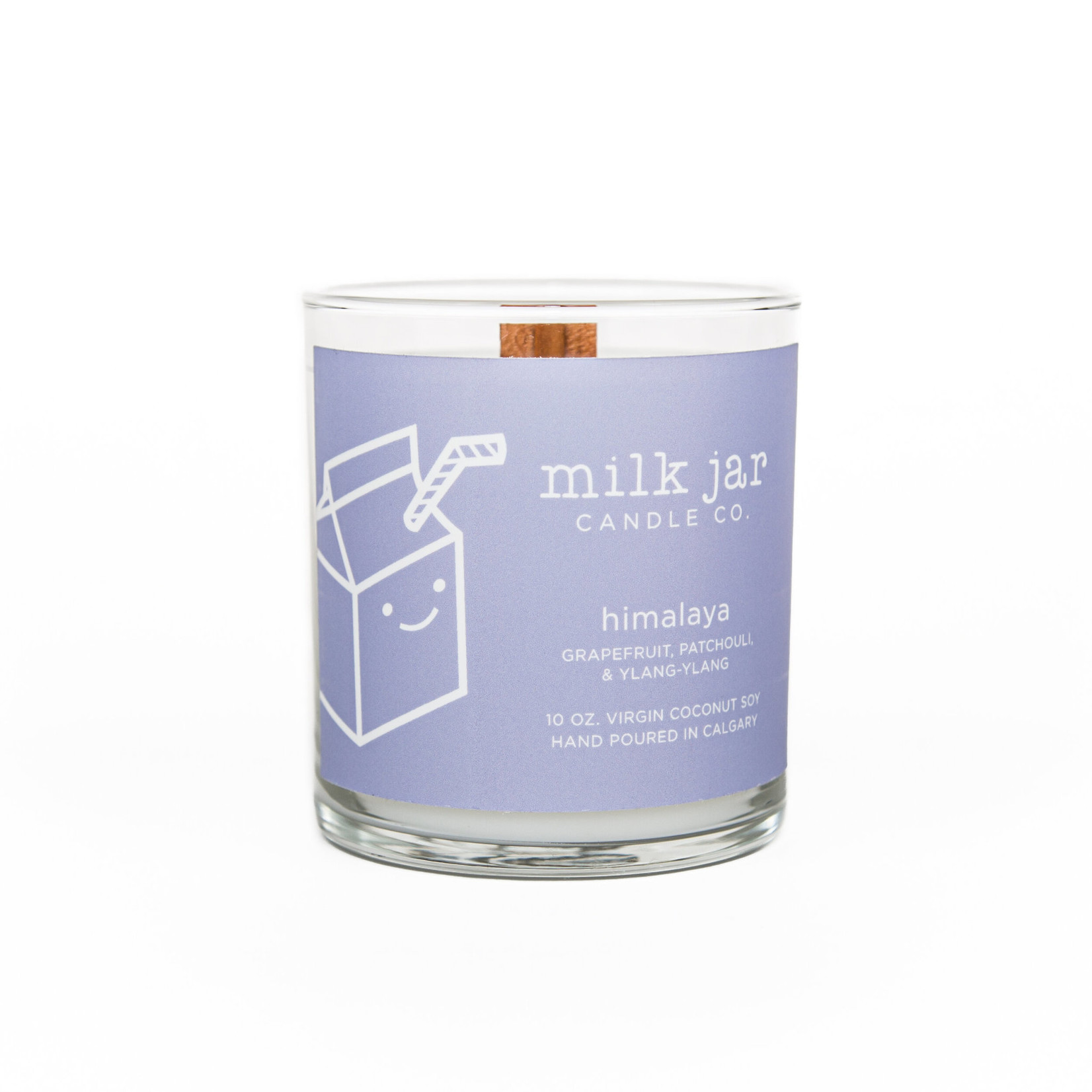 MILK JAR CANDLE CO. HIMILAYA ESSENTIAL OIL CANDLE