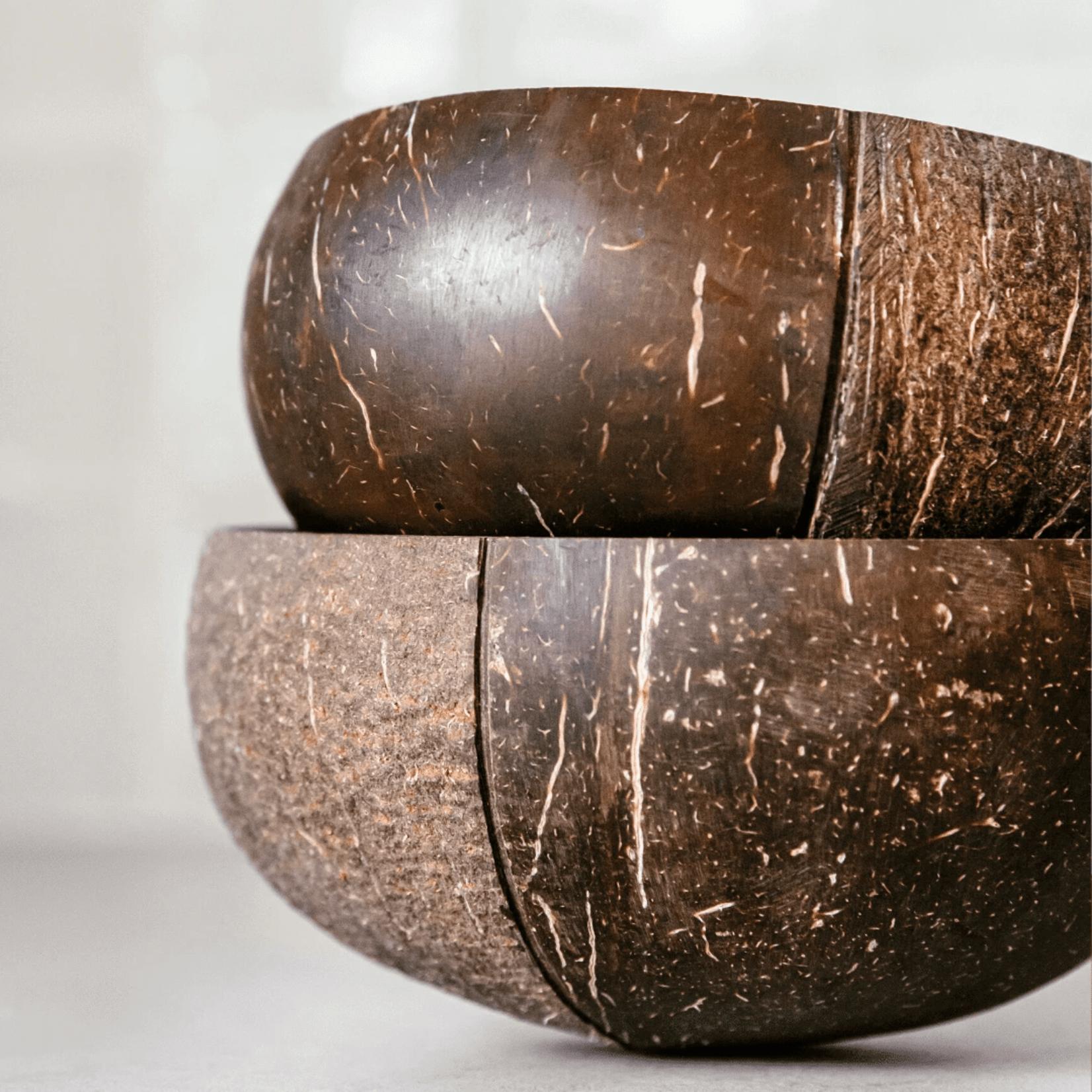 COCONUT BOWLS Yin + Yang Boho Coconut Bowl
