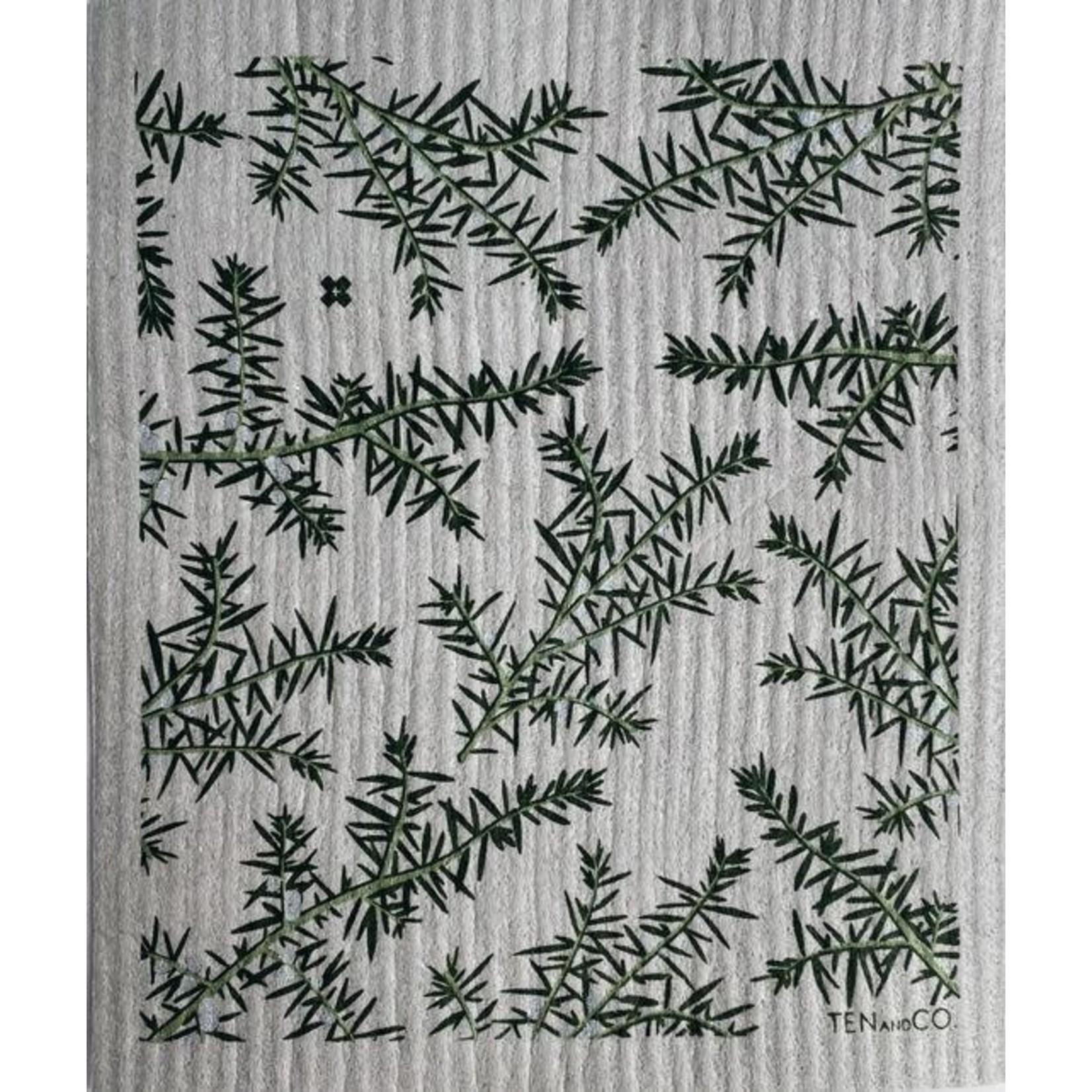 TEN AND CO. Sponge Cloth Juniper Greens on Grey
