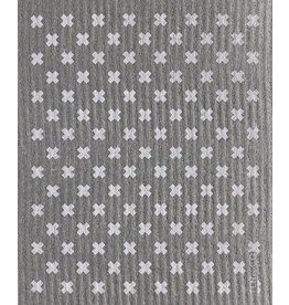 Ten and Co. Sponge Cloth Tiny X Grey + White