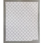 TEN AND CO. Sponge Cloth Scallop White + Grey