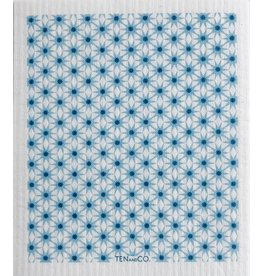Ten and Co. Sponge Cloth Starburst Blues