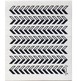 TEN AND CO. Sponge Cloth Arrow Black
