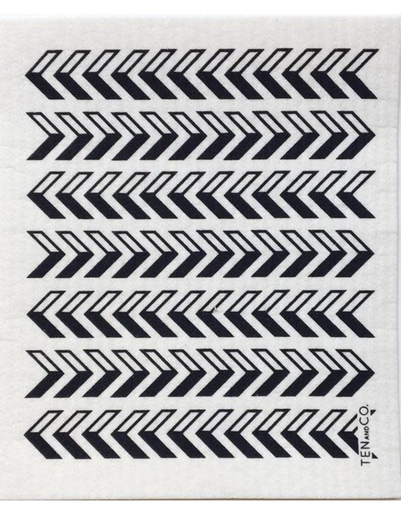 Ten and Co. Sponge Cloth Arrow Black