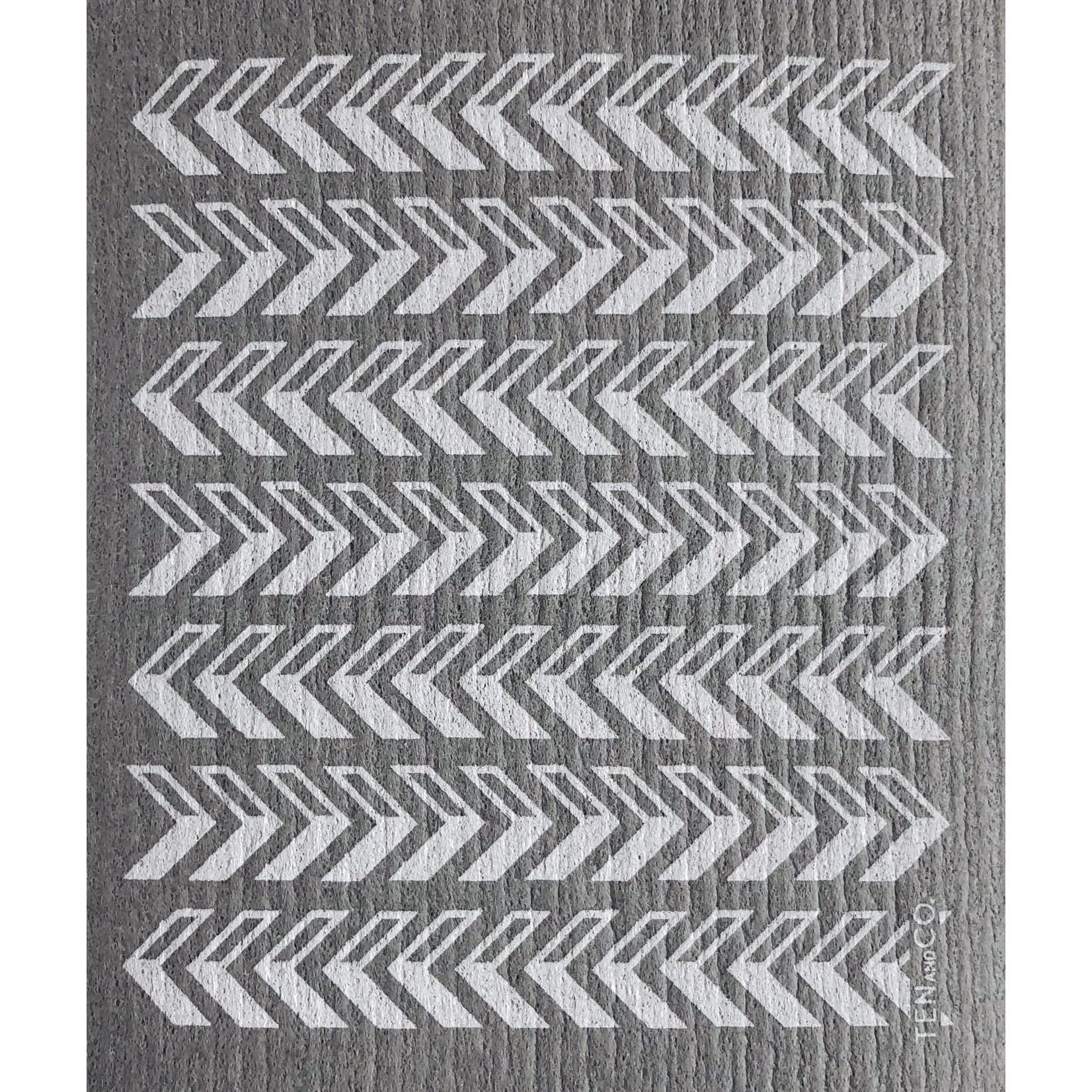 TEN AND CO. Sponge Cloth Arrow Grey