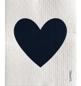 TEN AND CO. Sponge Cloth Big Love Black on White