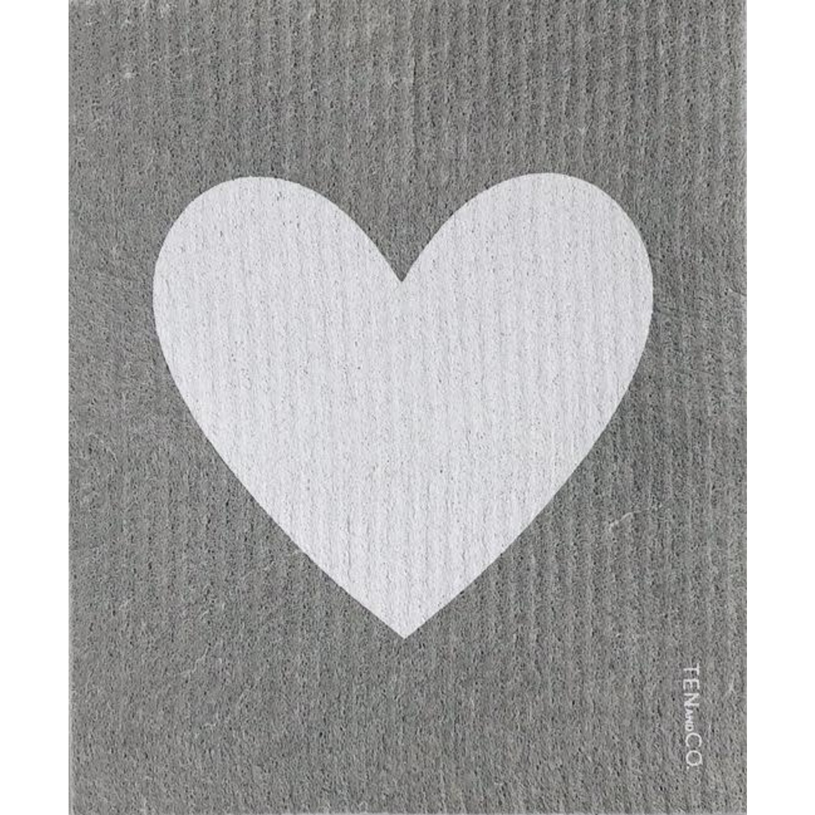 TEN AND CO. SPONGE CLOTH - BIG LOVE GREY