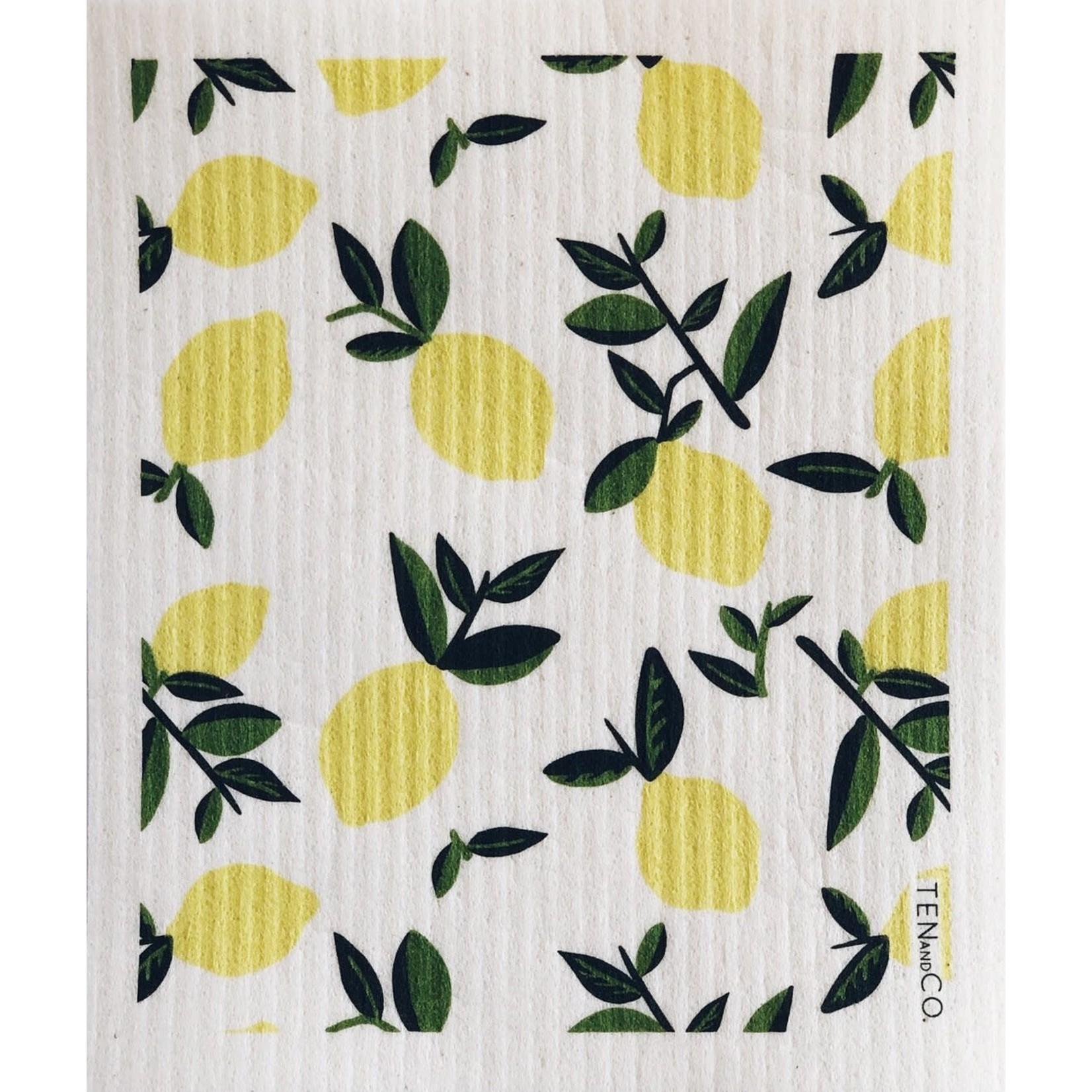 TEN AND CO. Sponge Cloth Citrus Lemon