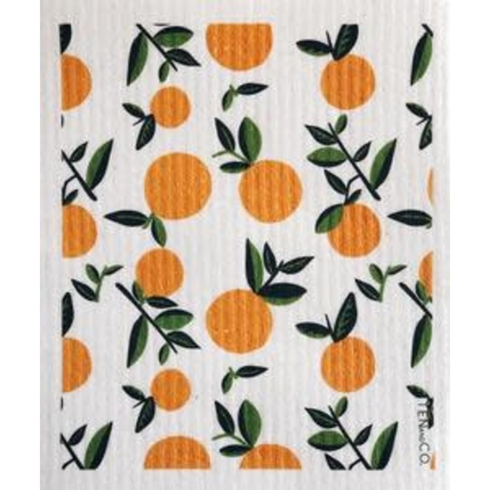 TEN AND CO. Sponge Cloth Citrus Orange