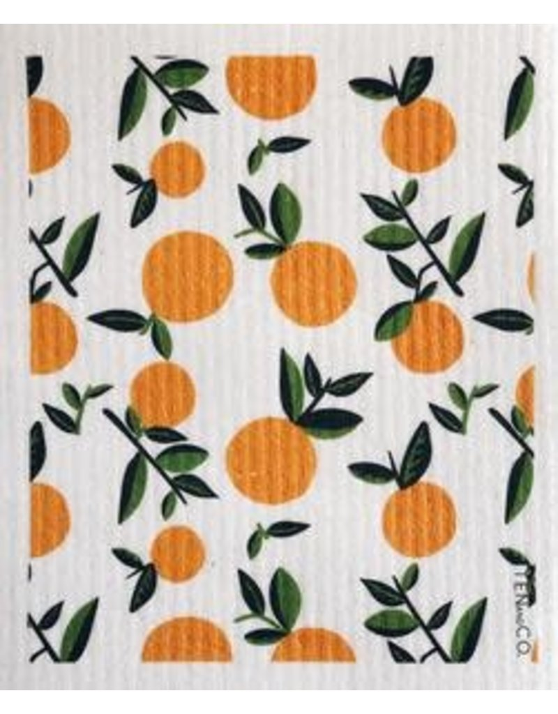 Ten and Co. Sponge Cloth Citrus Orange