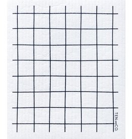 Ten and Co. Sponge Cloth Grid Black