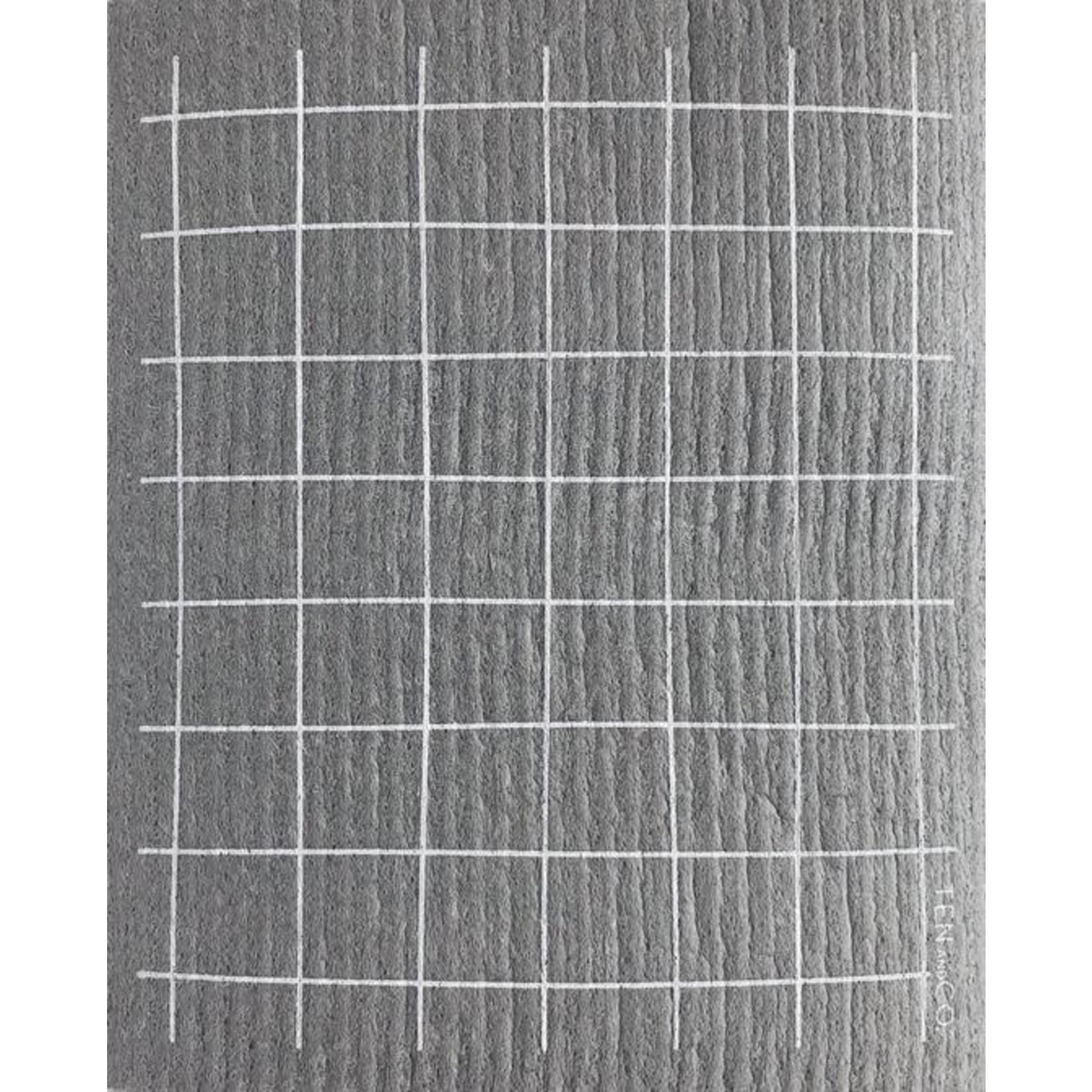 TEN AND CO. Sponge Cloth Grid Grey