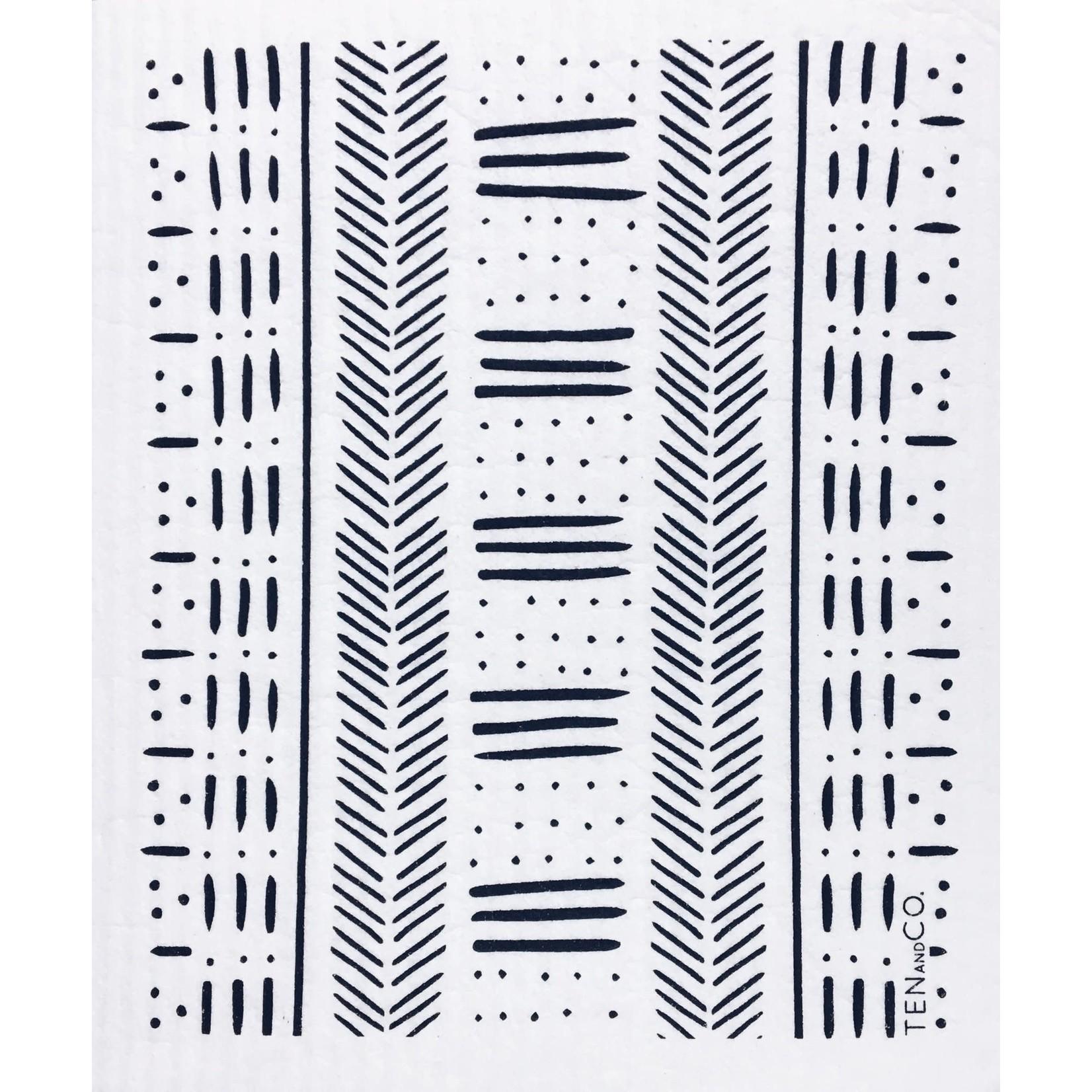TEN AND CO. SPONGE CLOTH - MUDCLOTH BLACK