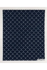 TEN AND CO. SPONGE CLOTH - SCALLOP BLACK