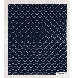 TEN AND CO. SPONGE CLOTH - SCALLOP BLACK