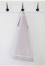 Ten and Co. Tea Towel Tiny X White on Grey