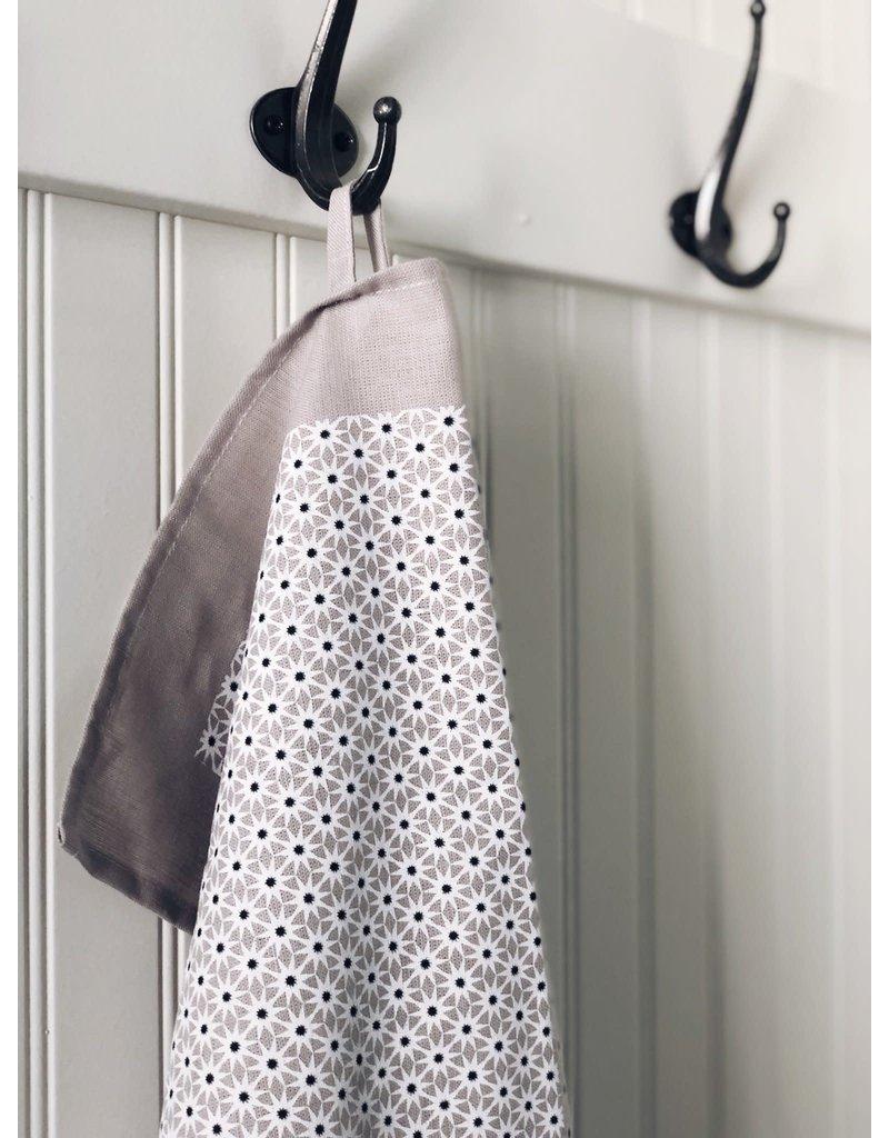 Ten and Co. Tea Towel Starburst Neutrals on Grey