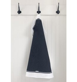 TEN AND CO. TEA TOWEL - SCALLOP BLACK