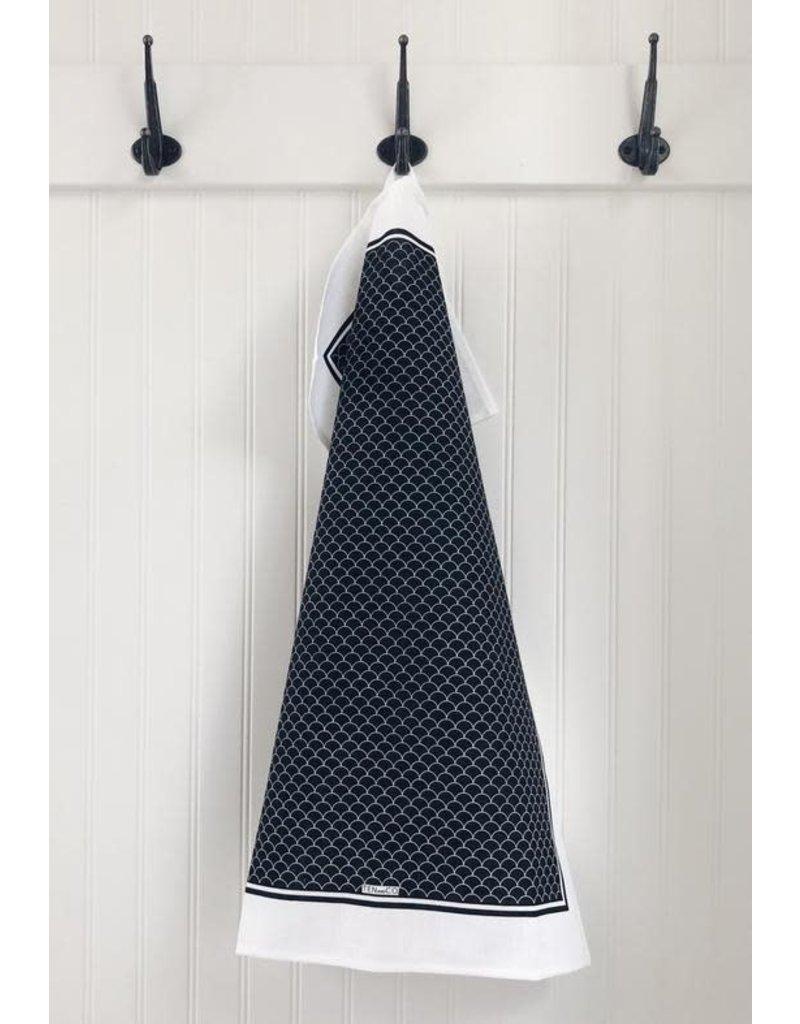 Ten and Co. Tea Towel Scallop Black