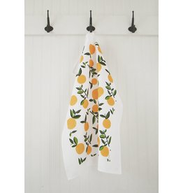 Ten and Co. Tea Towel Citrus Orange