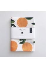 TEN AND CO. TEA TOWEL - CITRUS ORANGE