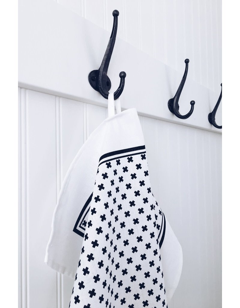 Ten and Co. Tea Towel Tiny X Black
