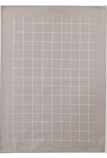 Ten and Co. Tea Towel Grid White on Grey