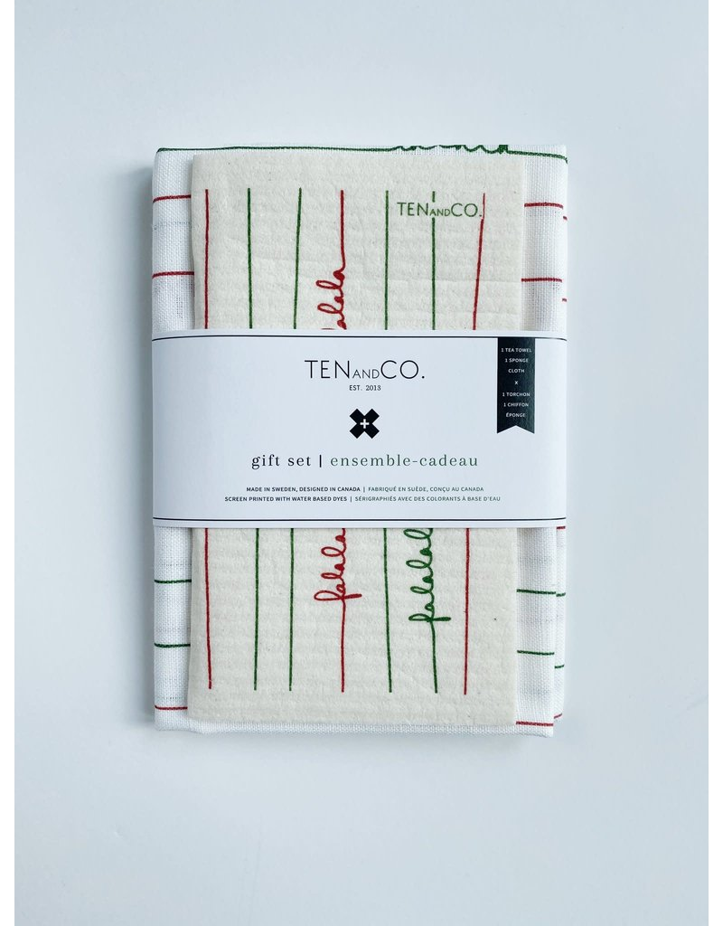 Ten and Co. Gift Set Falala Red + Green