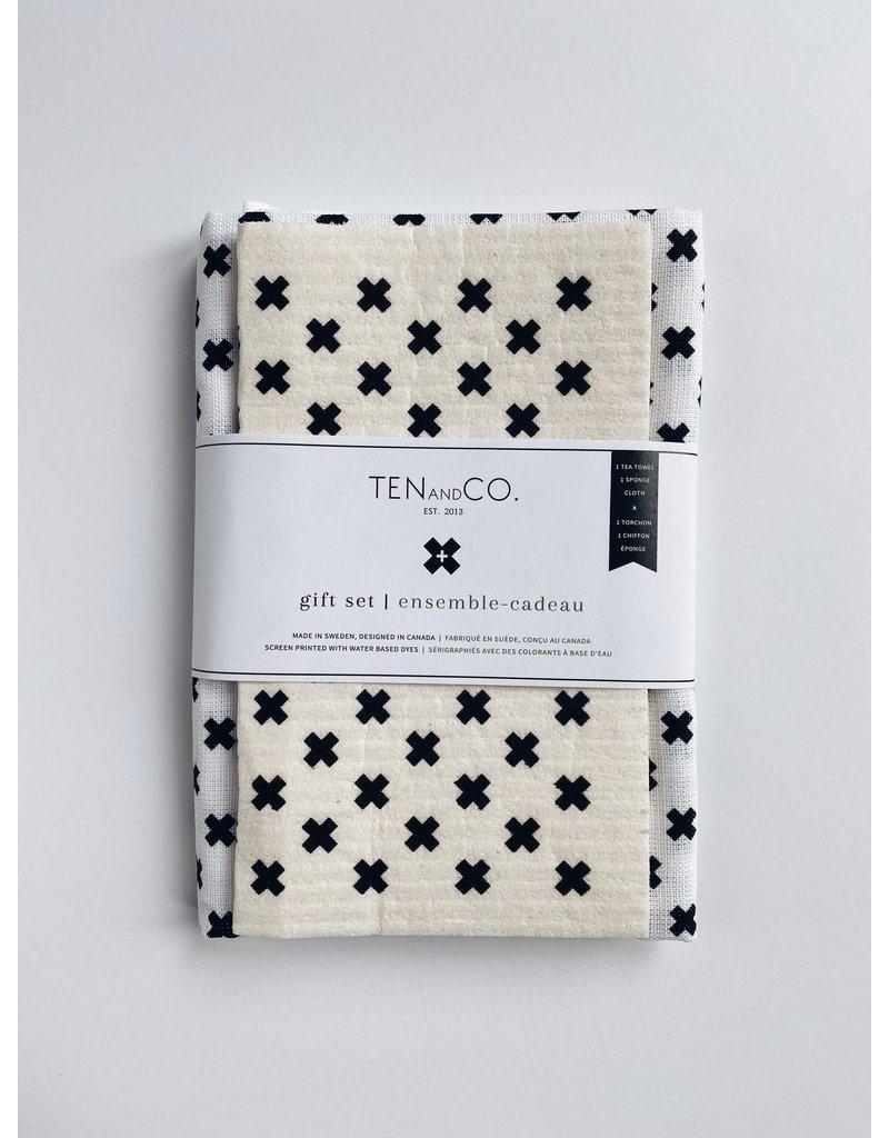 Ten and Co. Gift Set Tiny X Black